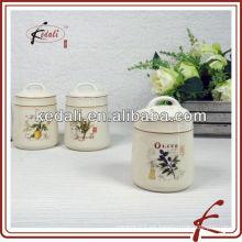 Alta calidad conjunto 3 frascos de cocina de cerámica