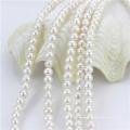 7-8мм белые натуральные пресноводные жемчужные нити из бисера