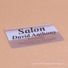 custom printing clear transparent plastic pvc business card