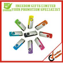 Promocional por atacado giratória USB Flash Drive