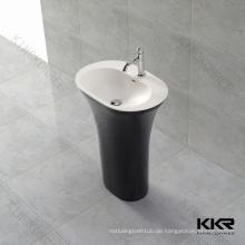 Solide Oberfläche tiefe Waschbecken, schwarz freistehende Becken