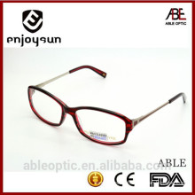double color oversized designer optical frames acetate hand made spectacles eyeglasses with metal temple