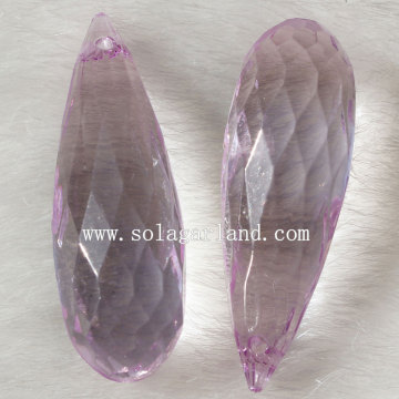 Sparking Transparent Acrylic Faceted Teardrop Pendant Charm Beads