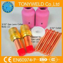 Wp18 / wp17 / wp26 tiges de soldagem tig Kit de peças de acessórios de 10 peças
