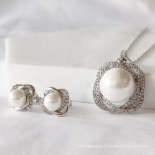 2021 New High Quality Jewelry with Premium Crystal Majestic Pearl Necklace and Earrings Wedding Set