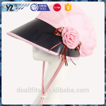 PVC wide with customized logo UV protection sun cap made in china