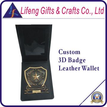 Кожаный кошелек с логотипом 3D