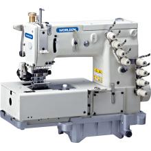 WD - 1508p cama plana doble cadeneta máquina de coser con mecanismo de movimiento de lanzadera Horizontal
