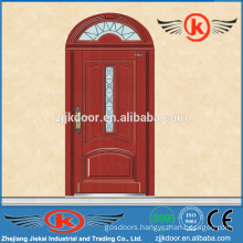 JK-A9045 strong steel armored entry arched wood door for church