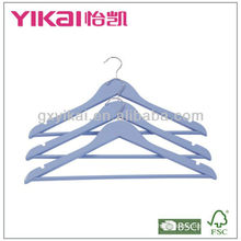 Dar Turqoise Wooden Shirt Hanger with Round Bar and U Notches