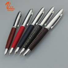 Metal Company Logo Pen Thick Leather Pen on Sell