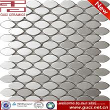 Chine usine fournir pas cher ovale en acier inoxydable mosaïque carrelage prix
