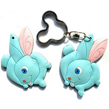 Rubber material pvc keychain