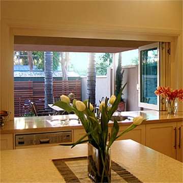 Aluminum Clear Glass Folding Window Display Window