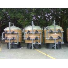 Filtre à eau multivalve à débit élevé pour usine de traitement d'eau industrielle