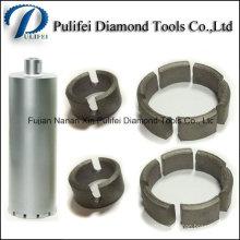 Segment de diamant de noyau de noyau pour l'usage de peu de foret de noyau pour renforcer le trou en pierre concret