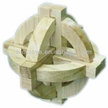 Hölzernes globales Puzzlespiel 3d