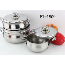 Stainless Steel Sphinx Belly Casserole Pot (FT-1809-XY)