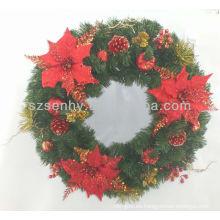 Nueva corona de Navidad pinecone