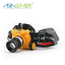 3W cree zoom lampe frontale multifonction