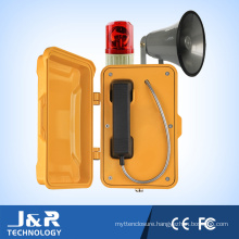 Outdoor Waterproof IP67 Telephone Roadsiden Phone with Horn and Beacon