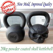 Logo personnalisé Fitness 20kg Skull Russian Kettlebell