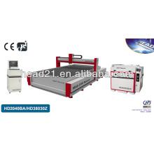 2000 * 4000mm Brücke Typ 380V 50 HZ CNC Wasserstrahlschneidemaschine für Glas mit CE Zertifikat 4 Achse 380Mpa Pumpe