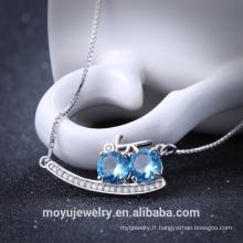Pendentif diamant simple en argent 2016 Pendentif argent sterling AAA