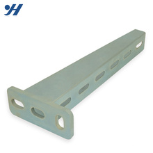 Durable Heavy Duty Galvanized Channel Brackets Perforated Cantilever