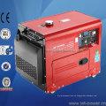 Pequeño generador de aire diesel silencioso 3kVA 5kVA 6kVA refrigerado por aire