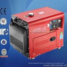 Generador eléctrico silencioso portátil diesel de 5000 vatios refrigerado por aire
