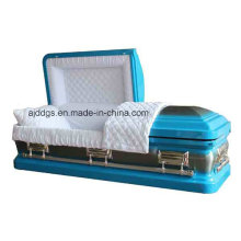 Blue Casket with Nature Brushed