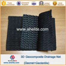 Geocomposite composée en géométrie en géométrie HDPE à trois dimensions HDPE pour drainage