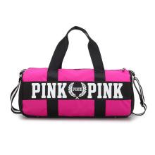 Women Travel Overnight Pink Duffle Bag Sport Duffle Ladies Weekender Traveling Bags With Logo Custom