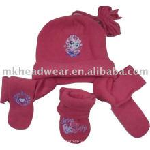 Ensemble polaire de foulard et gants en écharpe