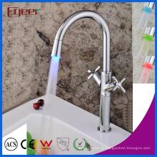 Fyeer China Double Cross Handle Torneira Cozinha LED (QH1894F)
