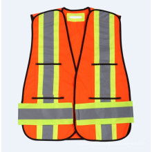 Traffic High-Visibility Reflective Vest with 120g Knitting Fabric