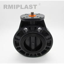PVC Butterfly Valve Bear Head For Electric Actuator Install