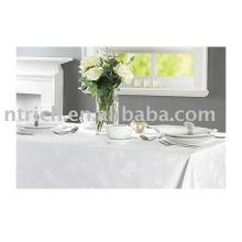 100% poliéster toalha de mesa, tampa de tabela do hotel, sobreposição de tabela