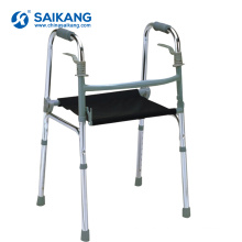 SKE206 Aluminum Folding Commode Walker With Seat For Elderly People