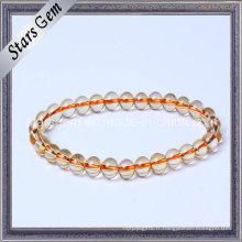 Bracelet à bijoux en perles de citrine à quartz