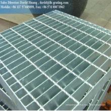 Piso de aço trançado de aço aberto galvanizado a quente, grade de malha de segurança galvanizada, catálogo de grades galvanizadas