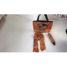 3folding custom umbrella with bag gift set