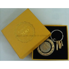 Yellow Paper Gift Box with Keychain
