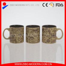 Taza de la forma del cilindro 20oz almacenada con la impresión de la calcomanía del relieve