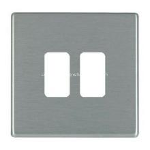 Placa frontal de pared de salida de acero inoxidable de metal personalizado