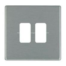 Placa frontal de tomada de parede de aço inoxidável de metal personalizado
