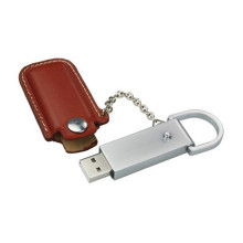 OEM China High quality for Red Leather Usb Flash Drive Cheapest Promotion Leather Metal USB Flash Drive supply to Liberia Factories