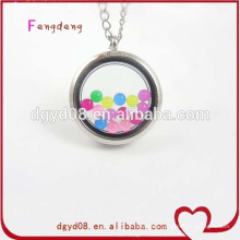 Various colors enamel charm floating locket pendant for bracelet and necklace