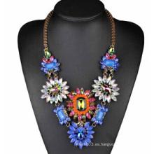 Collar de flores de piedra de colores (XJW13713)